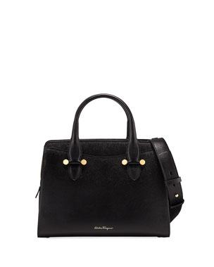 Salvatore Ferragamo Today Small Leather Tote Bag fcfc26389fbef
