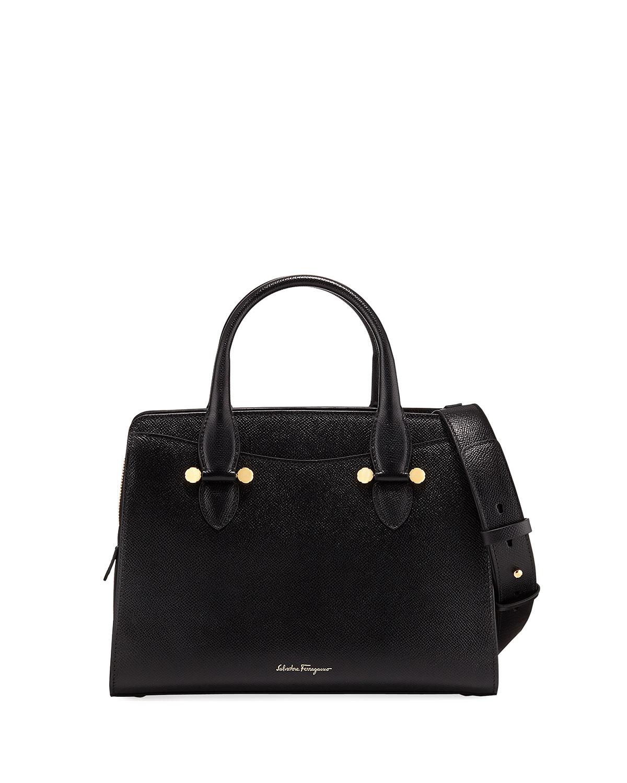 ae2748f5a9e6 Salvatore Ferragamo Today Small Leather Tote Bag