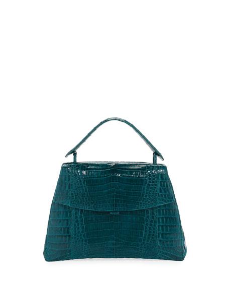 Nancy Gonzalez Curved-Bottom Medium Crocodile Top-Handle Bag