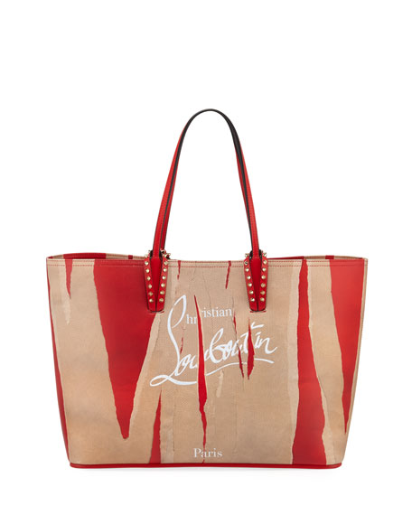 Christian Louboutin Cabata Kraft Loubicalf Paris Tote Bag