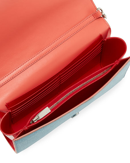 Paloma Loub In The Sky Denim Embellished Clutch Bag