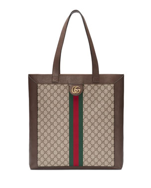 b1cd56f6c16 Gucci Ophidia GG Supreme Jacquard Striped Tote Bag