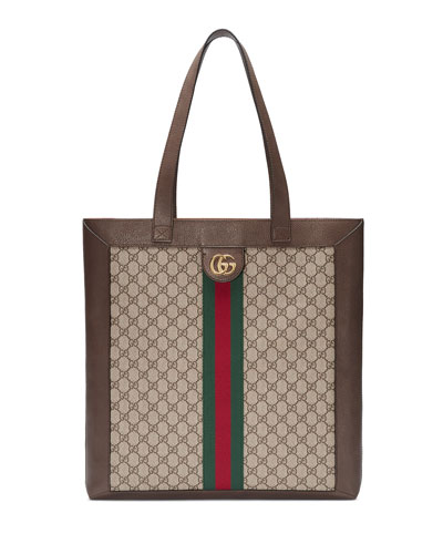 Ophidia GG Supreme Jacquard Striped Tote Bag