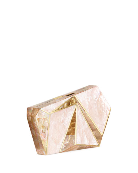 Azura Asymmetric Shell Minaudiere Clutch Bag