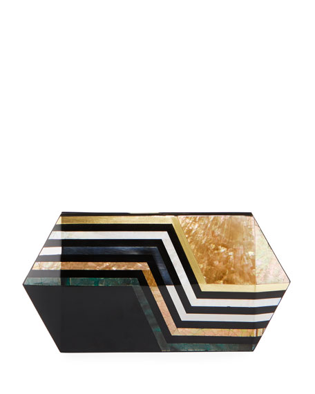 Annabelle Polygon Minaudiere Clutch Bag