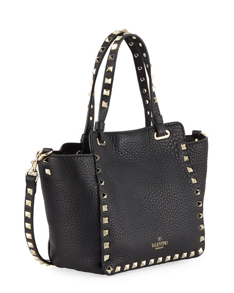 Rockstud Mini Vitello Leather Tote Bag