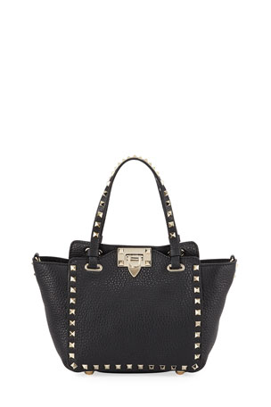 Valentino Garavani Rockstud Mini Vitello Leather Tote Bag