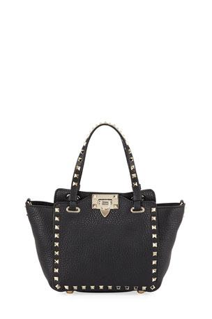 Valentino Garavani Rockstud Mini Vitello Leather Tote Bag