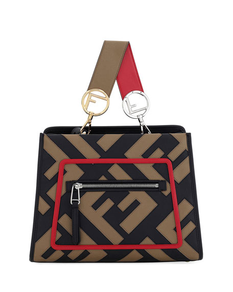 Fendi Runaway Small Century Calf FF Tote Bag