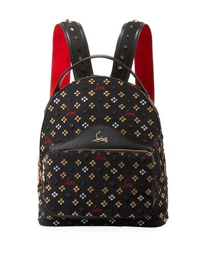 Back Loubi Small Jacquard Backpack