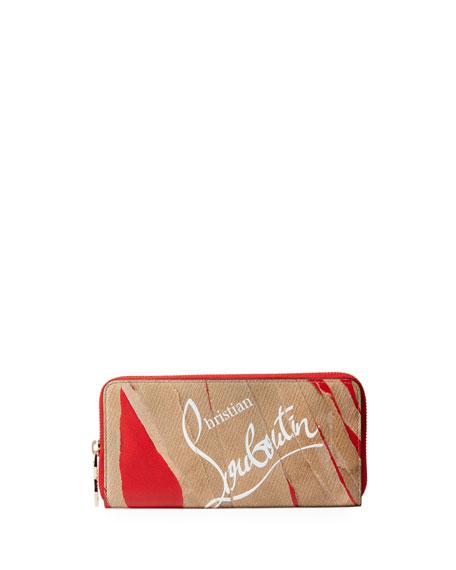 Christian Louboutin Panettone Kraft Loubi Calf Wallet