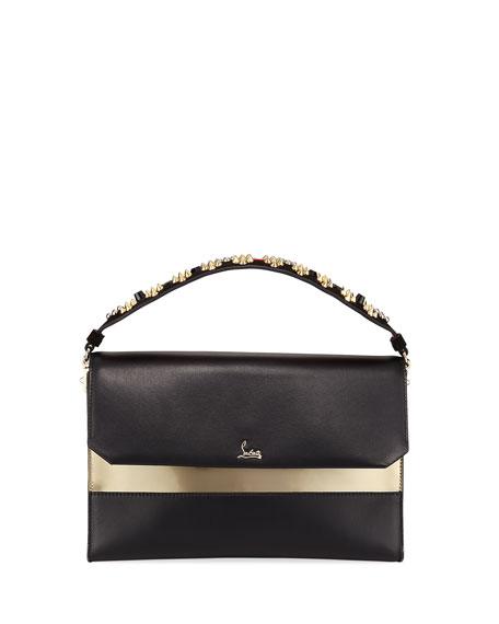 Christian Louboutin Loubiblues Calf Paris Clutch Bag