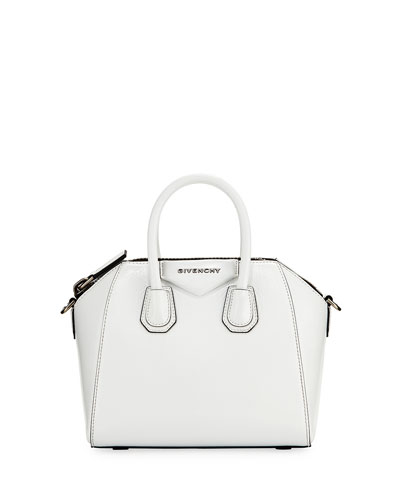 Antigona Mini Deerskin Satchel Bag