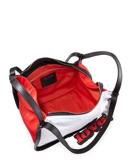Colorblock Nylon Sport Tote Bag