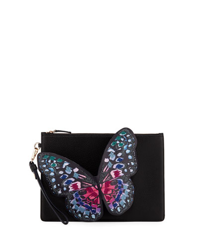 Flossy Butterfly Pochette Clutch Bag
