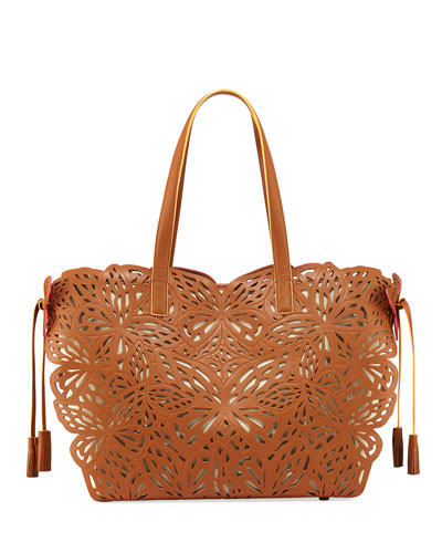 Liara Butterfly Shoulder Tote Bag