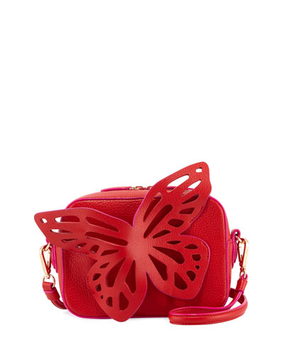 Flossy Butterfly Camera Crossbody Bag