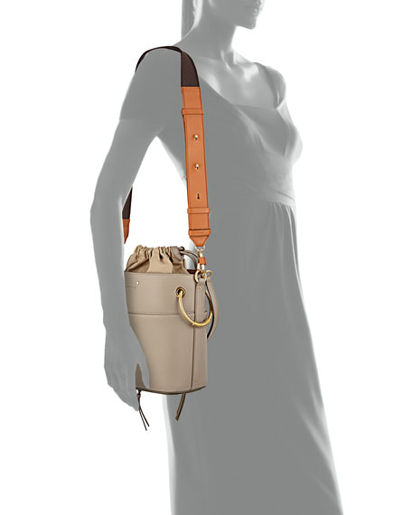 Roy Small Smooth Calf Leather Bucket Bag