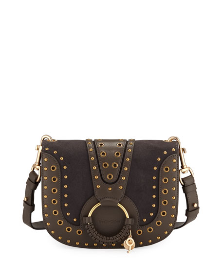 See by Chloe Hana Studded Leather/Suede Shoulder Bag