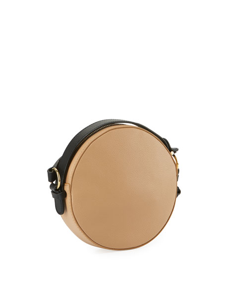 Rosy Mini Round Saddle Shoulder Bag