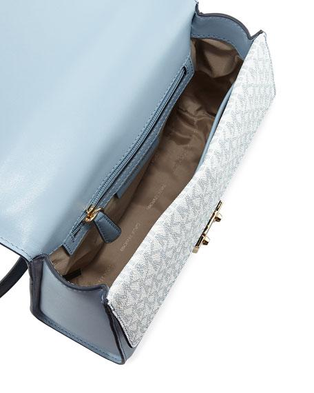 Sloan Medium Double Flap Satchel Bag