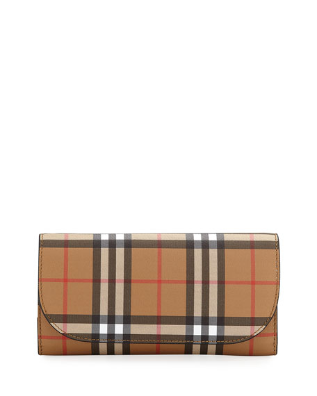 Vintage Check Crossbody Wallet on Chain