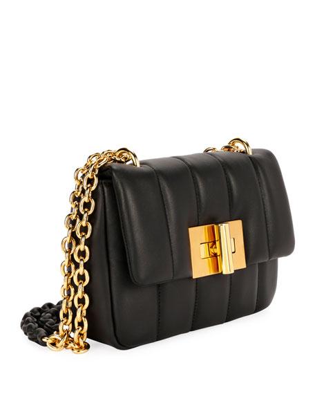 Natalia Matelasse Leather Large Shoulder Bag