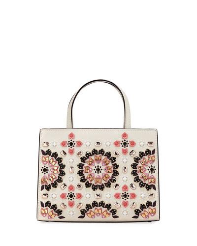 thompson street sam embellished satchel bag