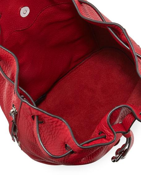 Blythe Leather Drawstring Backpack Bag