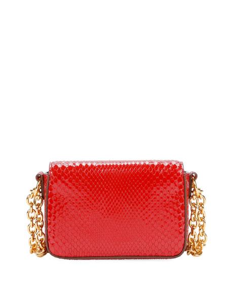 Natalia Small Python Vernis Chain Shoulder Bag