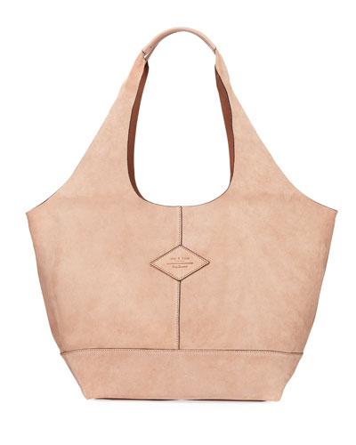 Camden Suede Shopper Hobo Bag