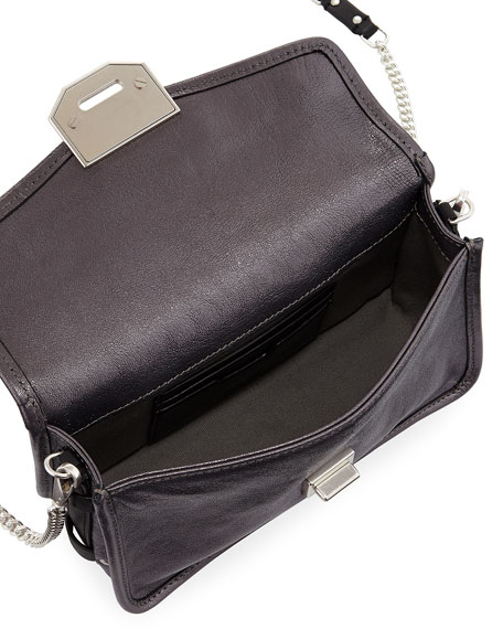 Field Metallic Faux-Leather Clutch Bag with Strap
