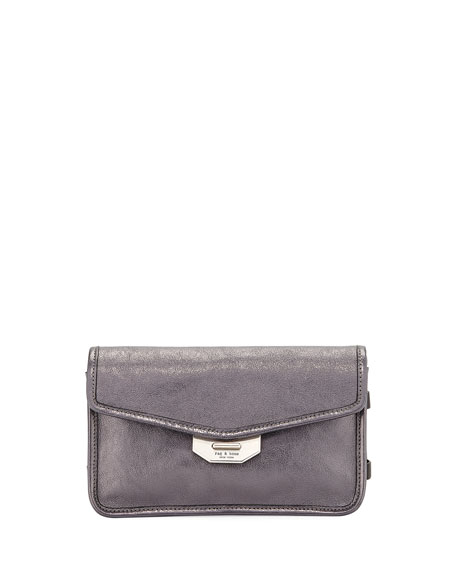Rag & Bone Field Metallic Faux-Leather Clutch Bag