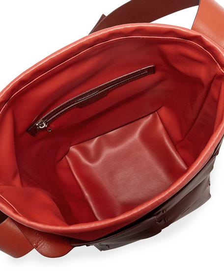 16#01 Medium Sleek Leather Hobo Bag