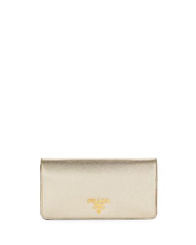 Saffiano Mini Bag, Gold