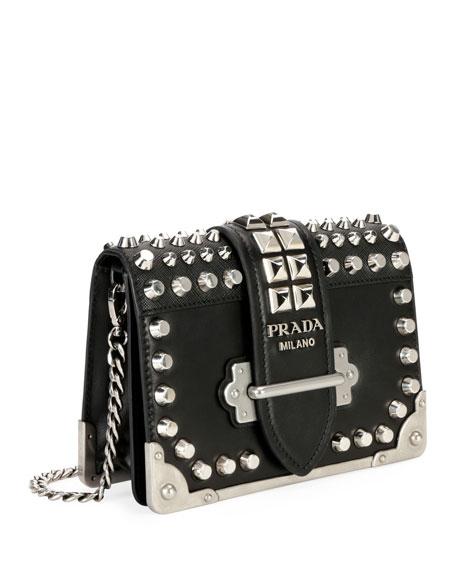 Small Studded Cahier Crossbody Bag