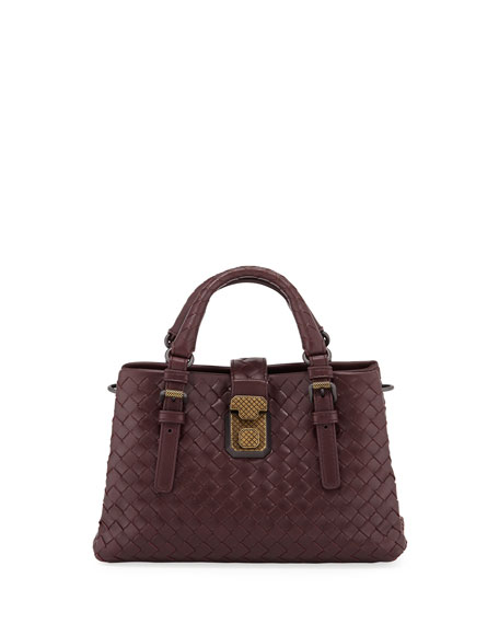 Bottega Veneta Roma Medium Woven Compartment Tote Bag