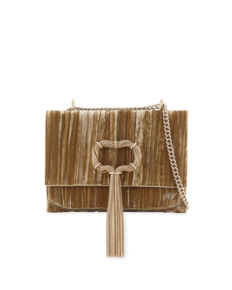 Club Chain Velvet Tassel Evening Clutch Bag