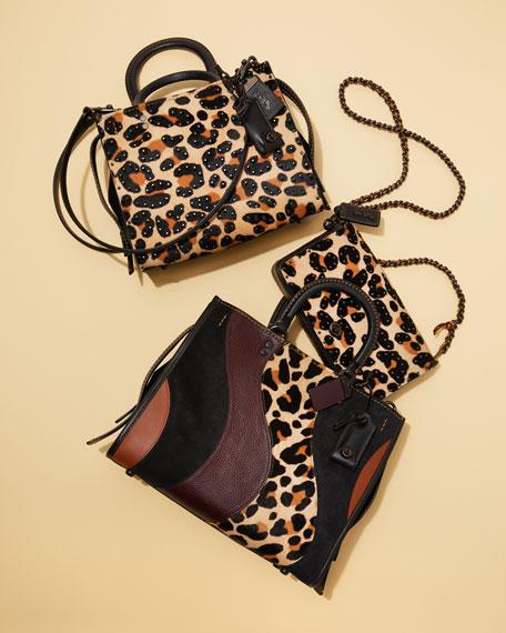 Haircalf Leopard Dinky Crossbody Bag