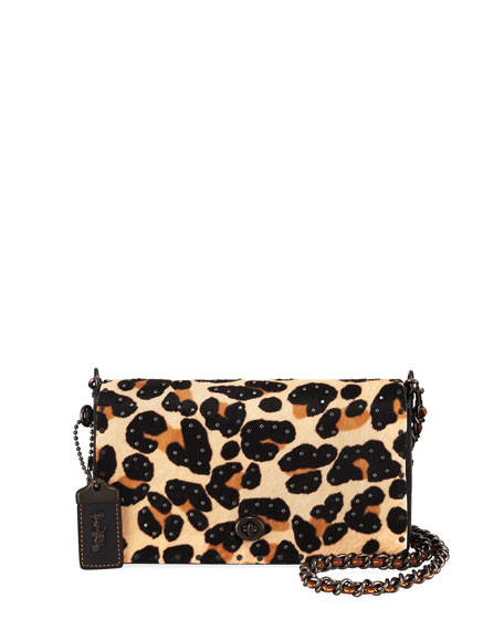 Coach 1941 Haircalf Leopard Dinky Crossbody Bag