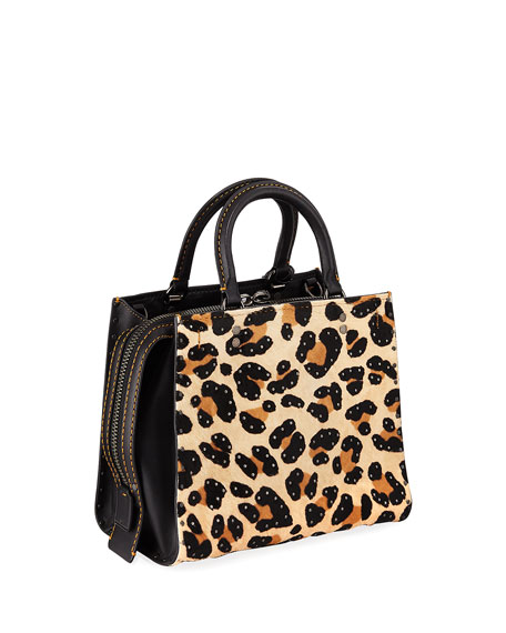 Rogue 25 Haircalf Leopard Tote Bag