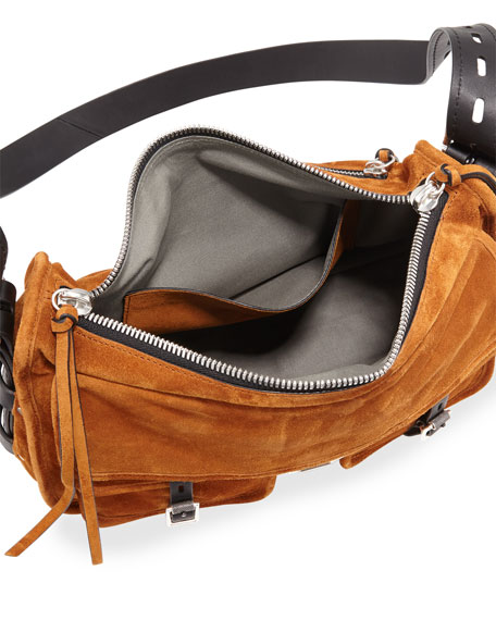 Field Suede Crossbody Messenger Bag