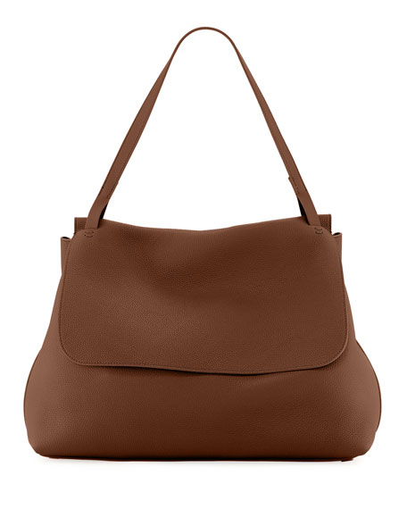 Top-Handle 14 Satchel Bag in Lux Grained Leather