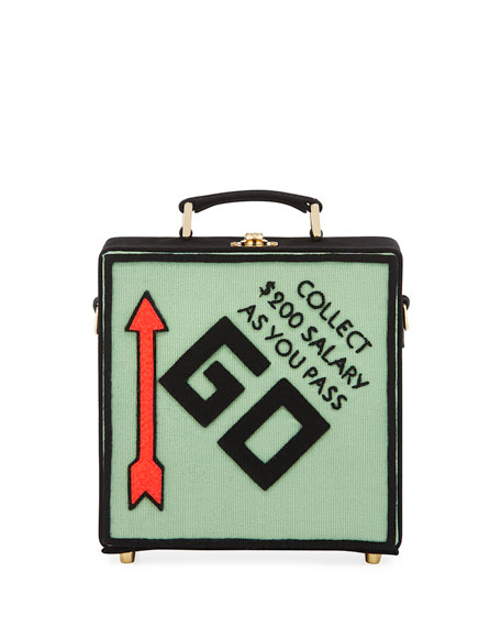 Pass Go Monopoly Box Shoulder Bag