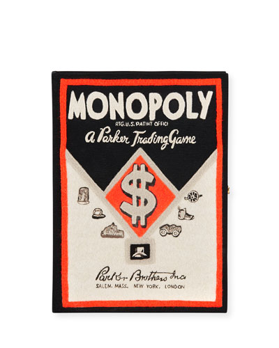 Monopoly Parker Bros Trading Game Box Clutch Bag