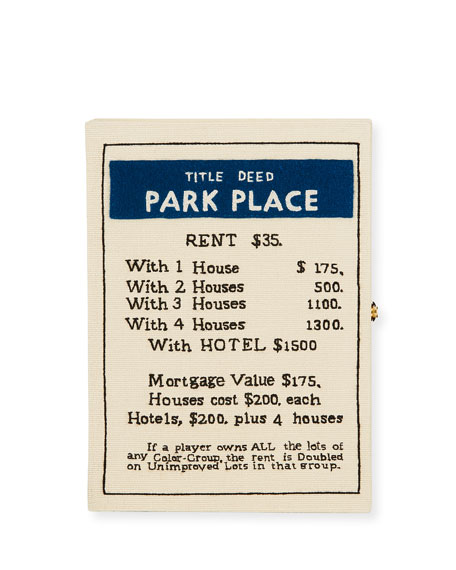 Olympia Le-Tan Park Place Monopoly Deed Card Clutch