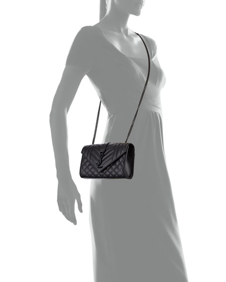 Monogram YSL Envelope Small Chain Shoulder Bag