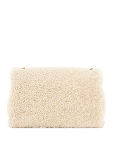 Kate Monogram YSL Small Shearling Crossbody Bag