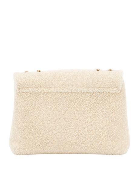 Lou Lou Medium Shearling Shoulder Bag