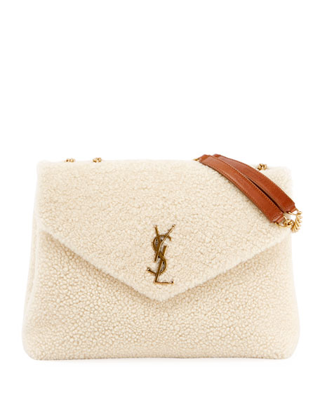 Saint Laurent Lou Lou Medium Shearling Shoulder Bag